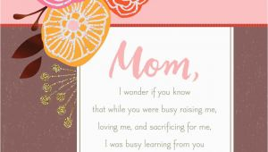 Hallmark Birthday Cards for Mom Life 39 S Most Important Lessons Birthday Card for Mom