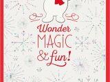 Hallmark E Birthday Cards Funny Frosty the Snowman Wonder Magic Fun Christmas Card