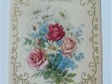 Hallmark Friend Birthday Cards Vintage Hallmark Birthday Card Beautiful Sparkly Flowers W