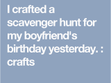 Halloween Birthday Ideas for Him I Crafted A Scavenger Hunt for My Boyfriend 39 S Birthday