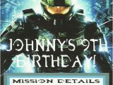Halo Birthday Card Halo 4 Birthday Party Invitations Customized for You