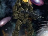 Halo Birthday Card Halo Birthday Card by Dexterxs On Deviantart