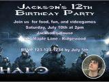 Halo Birthday Card Halo Birthday Invitation Personalized Party Invites