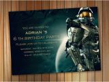 Halo Birthday Card Halo Spartan Invitation Halo Birthday Invitation by Pastagetti
