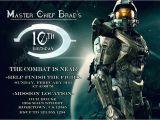 Halo Birthday Card Personalized Photo Invitations Cmartistry Halo Armor