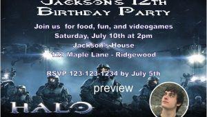 Halo Birthday Invitations Free Halo Printable Invitations