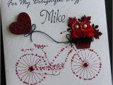Handmade Birthday Cards for Boyfriend with Love Handmade Card Greeting Personalised Bike Love Handmade