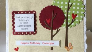 Handmade Birthday Cards for Grandfather Happy Birthday Grandpa Handmade Card Whimsical by