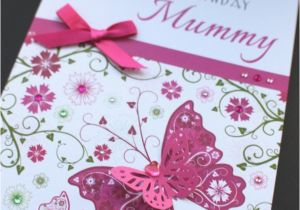 Handmade Birthday Cards For Mom From Daughter A5 Personalised Floral Card Mum Nan