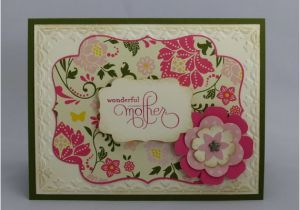 Handmade Birthday Cards For Mom From Daughter Stampin Up Greeting Card Happy Mother 39 S