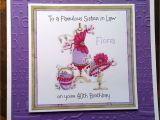 Handmade Birthday Cards for Sister In Law Handmade Personalised Birthday Card Bag Hat Niece Sister