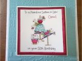 Handmade Birthday Cards for Sister In Law Handmade Personalised Birthday Card Dress Bag Sister Mum