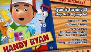 Handy Manny Birthday Invitations Handy Manny Birthday Invitations Handy Manny Birthday