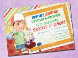 Handy Manny Birthday Invitations Handy Manny Birthday Party Invitation