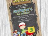 Handy Manny Birthday Invitations Handy Manny Invitation Birthday by Michellepartycards On Etsy