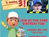Handy Manny Birthday Invitations Personalized Printable Invitations Cmartistry Handy