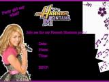 Hannah Montana Birthday Card Free Printable Birthday Invitations for Girls with Hannah