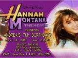 Hannah Montana Birthday Card Hannah Montana Birthday Ticket Invitation Sample Mm1