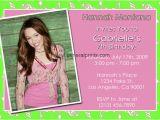 Hannah Montana Birthday Card Hannah Montana Printable Birthday Cards