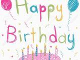 Hapoy Birthday Cards Happy Birthday Card Stock Vector Cartoon
