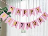Happy 1/2 Birthday Banner Dovetail Shape Happy Birthday Banner Garland Hanging Photo