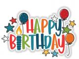 Happy 1/2 Birthday Banner Happy Birthday Title Scrapbook Title Svg Cuts Scrapbook