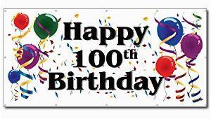 Happy 100th Birthday Banners Amazon Com Happy 100th Birthday 3 39 X 6 39 Vinyl Banner