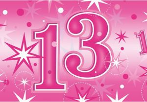 Happy 13th Birthday Decorations Pink Age 13 Party Banners