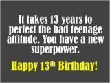 Happy 13th Birthday Quotes Funny 13th Birthday Quotes Funny Quotesgram