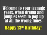 Happy 13th Birthday Quotes Funny 13th Birthday Wishes What to Write In A Card Holidappy