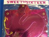 Happy 16th Birthday Banner Pink Sweet Sixteen 16 Pink 16th Birthday Party Decoration