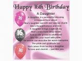 Happy 16th Birthday Daughter Quotes Daughter Poem 16th Birthday Notepad Daughter Poemskk