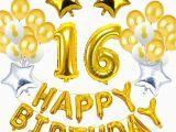 Happy 16th Birthday son Banner Happy 16th Birthday Banner Confetti Balloon for Sweet 16