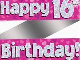 Happy 16th Birthday son Banner Holographic Happy 16th Birthday Banner Buy Helium