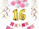 Happy 16th Birthday son Banner Sweet Girl 16th Birthday Party Decoration Kit Happy