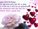 Happy 16th Birthday son Quotes 16th Birthday Quotes for Birthday Quotesgram