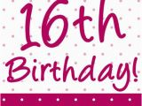 Happy 16th Birthday son Quotes Pretty Pink 39 Happy 16th Birthday 39 Poster A3