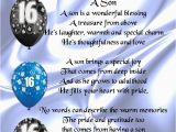 Happy 16th Birthday to My son Quotes Personalised Poem Print 16th Birthday son Poem Ebay