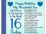 Happy 16th Birthday to My son Quotes Sixteen Birthday Wishes for son Wishes Greetings