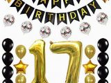 Happy 17th Birthday Banners Amazon Com 17th Birthday Decorations Party Supplies Happy