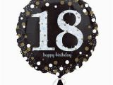 Happy 18th Birthday Balloon Banner 18th Happy Birthday Foil Balloon Black Silver Gold Party