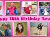 Happy 18th Birthday Banner Free Personalised Birthday Banners with Photographs