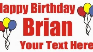 Happy 18th Birthday Banner Printable Birthday Banners Birthday Banner Customsignbanner Com