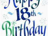 Happy 18th Birthday Banner Printable Blue Birthdays and Happy Birthday On Pinterest