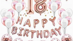 Happy 18th Birthday Banner Rose Gold 18th Birthday Party Decorations Amazon Com