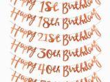 Happy 18th Birthday Banner Rose Gold Rose Gold Birthday Etsy