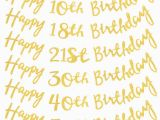 Happy 18th Birthday Banner Rose Gold Rose Gold Gold Silver 18 21st 30 40 50 60 70 Happy
