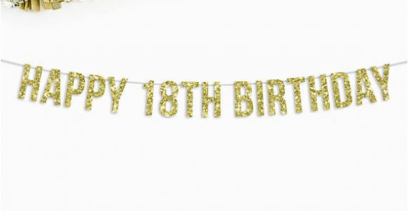 Happy 18th Birthday Banners Printable Happy 18th Birthday Banner 18th Birthday Party Decorations