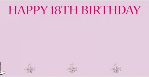 Happy 18th Birthday Facebook Banner 18th Pink Birthday Cake Personalised Banner Partyrama Co Uk