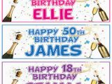 Happy 18th Birthday Facebook Banner 2 Personalised Birthday Party Banners 16th18th 21st 30th